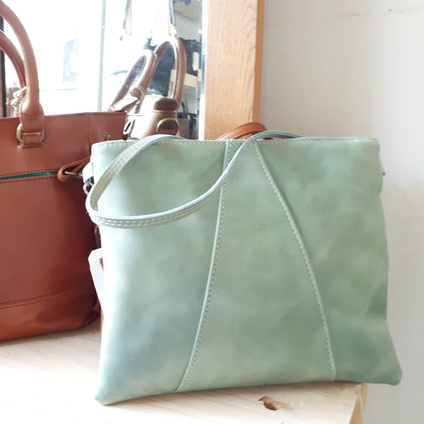 Crossover Bag by Thandana in Sage Green