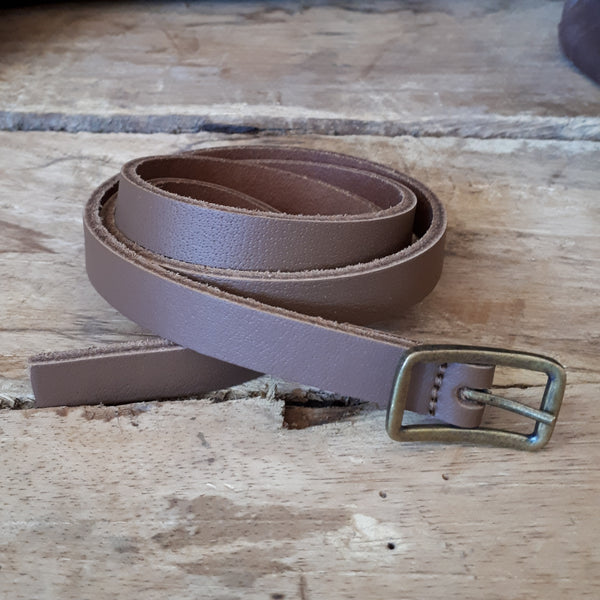 Ladies Plain Brown Belt 16mm