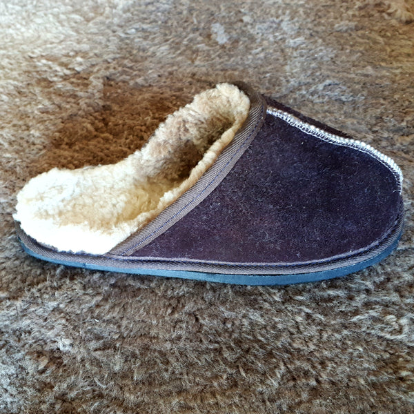 Slip On Sheepskin Slippers- Brown