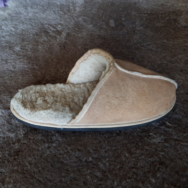 Slip On Sheepskin Slippers-Camel