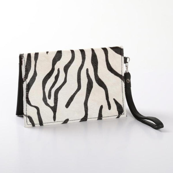 Belt Pouch Animal Print Leather