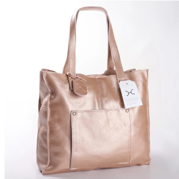 Thandana Tote in Metallic Rose