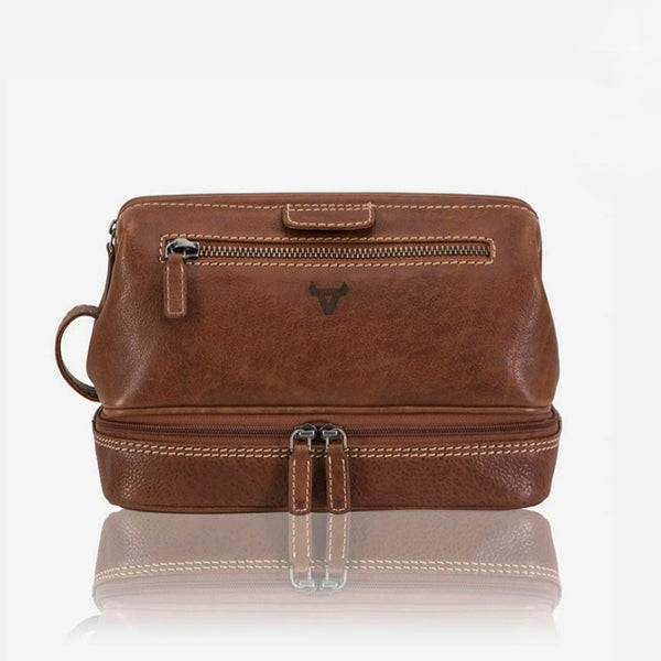 Brando Vintage Leather Wash Bag