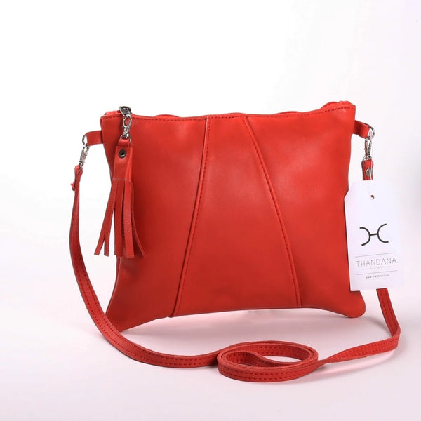 Crossover Bag by Thandana in Red