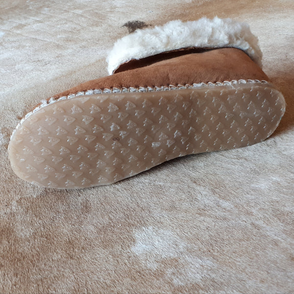 Plush Suede Lined Sheepskin Slippers