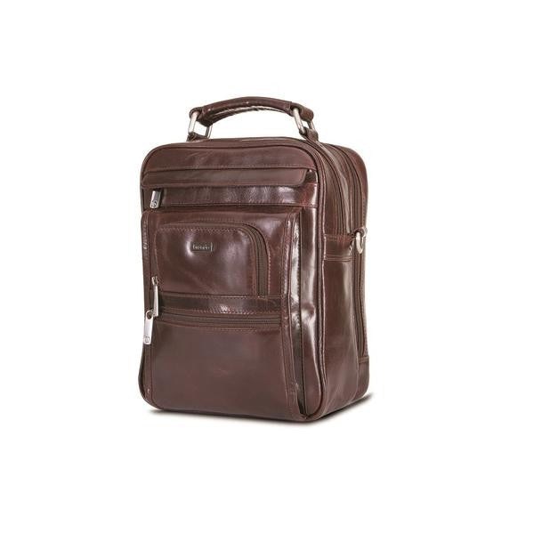 Alpine Large Gents Cross Body Tablet Bag with Top Handle and Shoulder Strap
