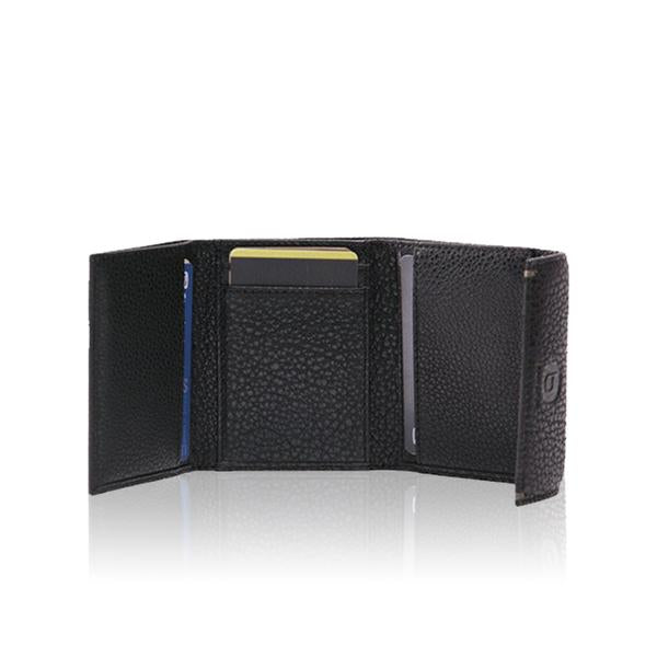 6019 Trifold wallet with flap over clip