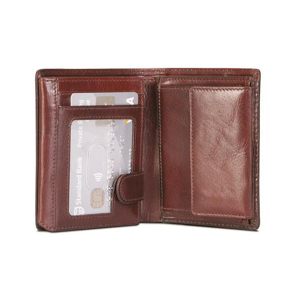 RFID Flip Over with Coin Pouch-Oxford