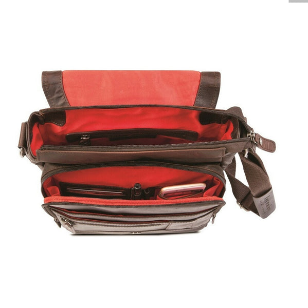 Silviano Large Crossbody  Tablet Bag with Multi Compartments