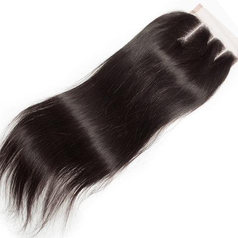 Lace Closure Brazilian Straight Hair Human Hair Closure Three Part 1pc/lot Remy Hair