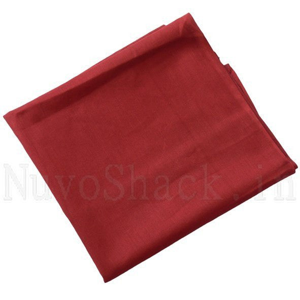 4 Pcs Maroon Patka for Sikh Boys / Students - Large Plain Without Strings
