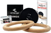 EMERGE WOODEN GYMNASTIC RINGS