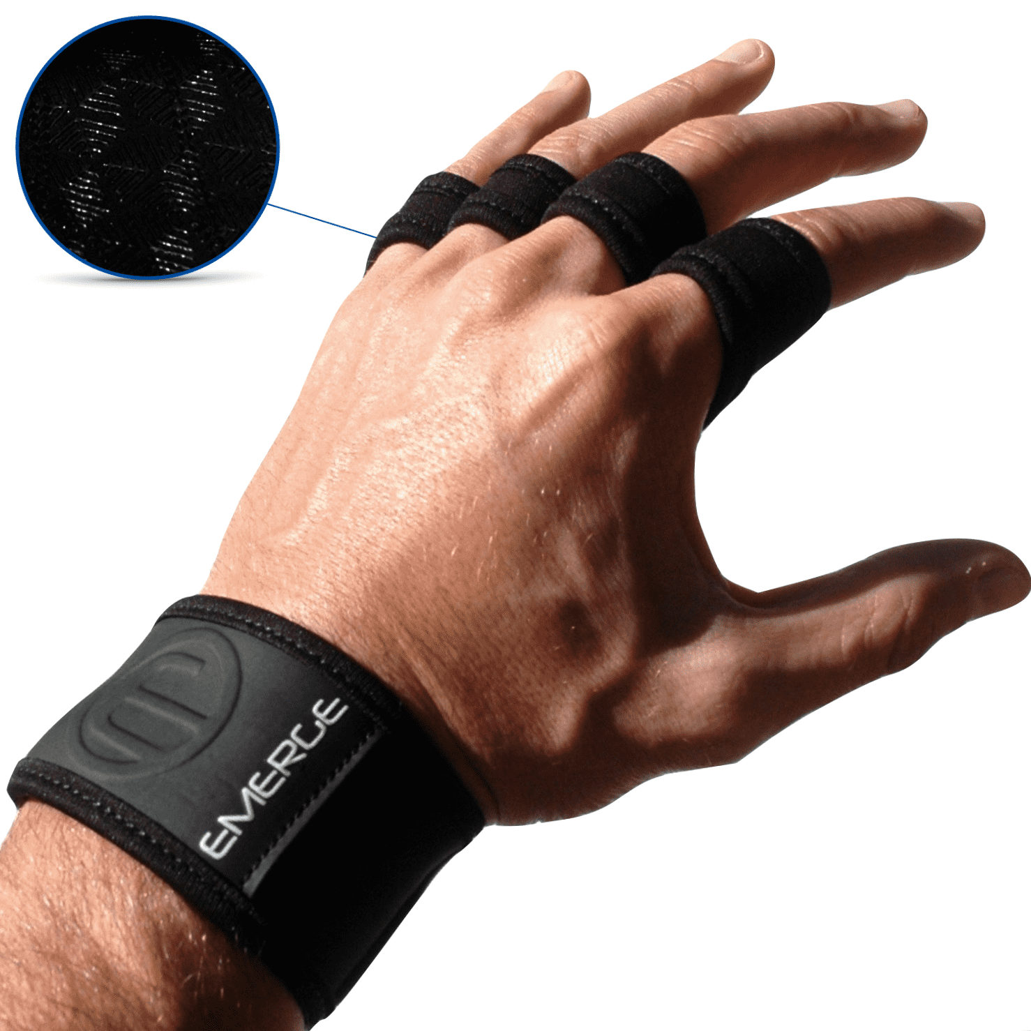 Ox2 Workout Hand Grips Black / Large Fitness - Emergefitnessusa