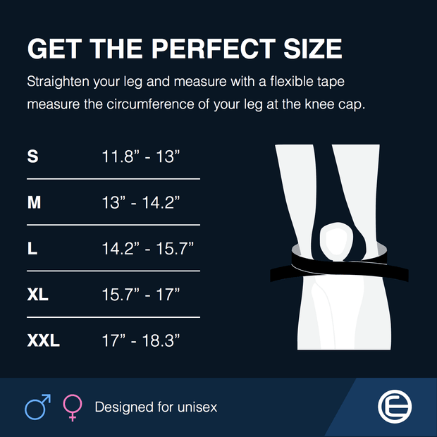 7MM Knee Sleeve Compression Supports by Emerge