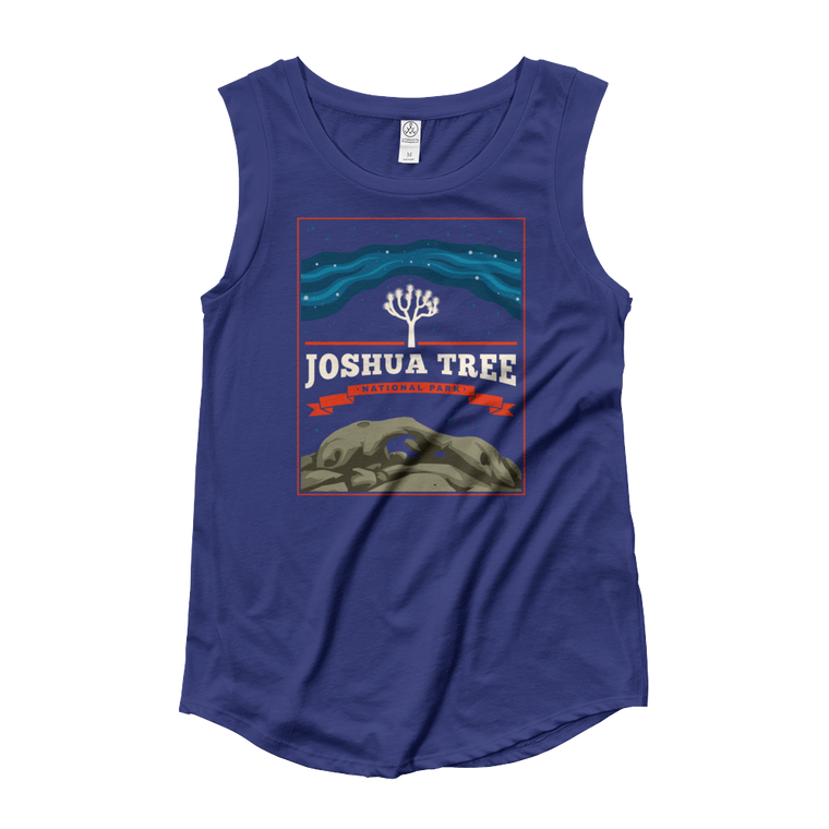 Joshua Tree National Park Ladies' Cap Sleeve T-Shirt