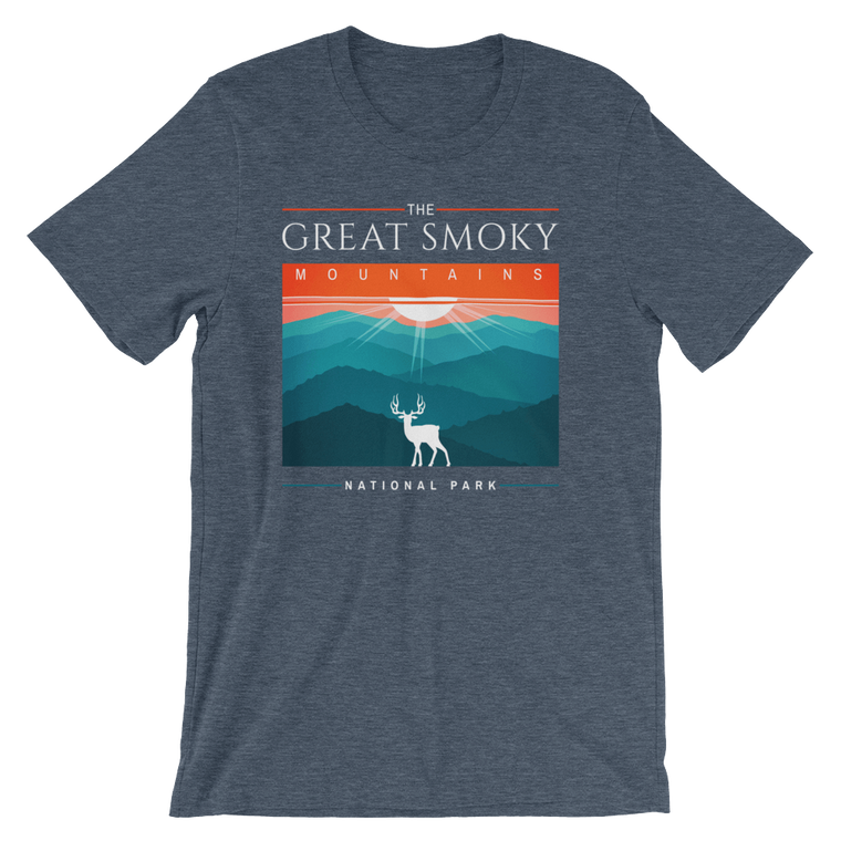 Great Smoky Mountains Deer short sleeve t-shirt