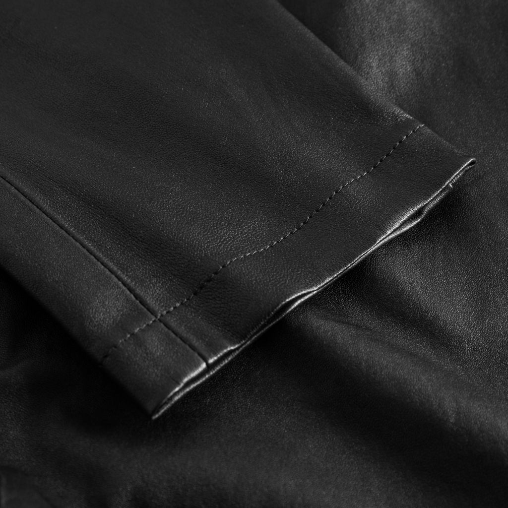 Depeche leather wear Chino skindbuks 7/8-dels i stretch Pants 099 Black (Nero)