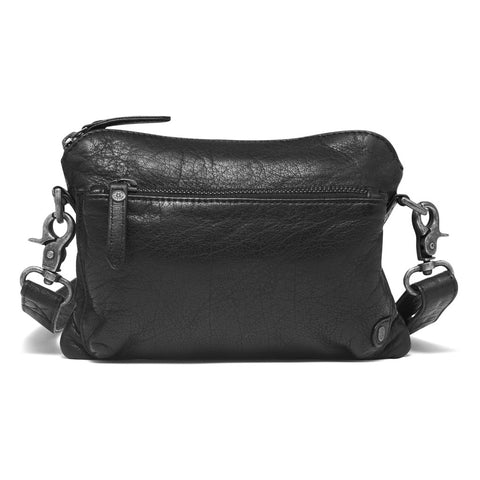 DEPECHE Clutch i vasket skindkvalitet Small bag / Clutch 099 Black (Nero)