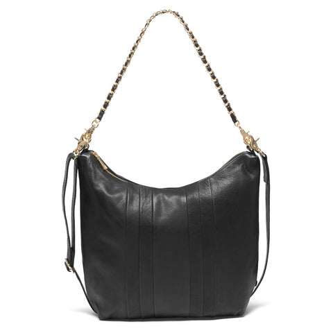 DEPECHE Medium taske med metal skulderrem Medium bag 099 Black (Nero)
