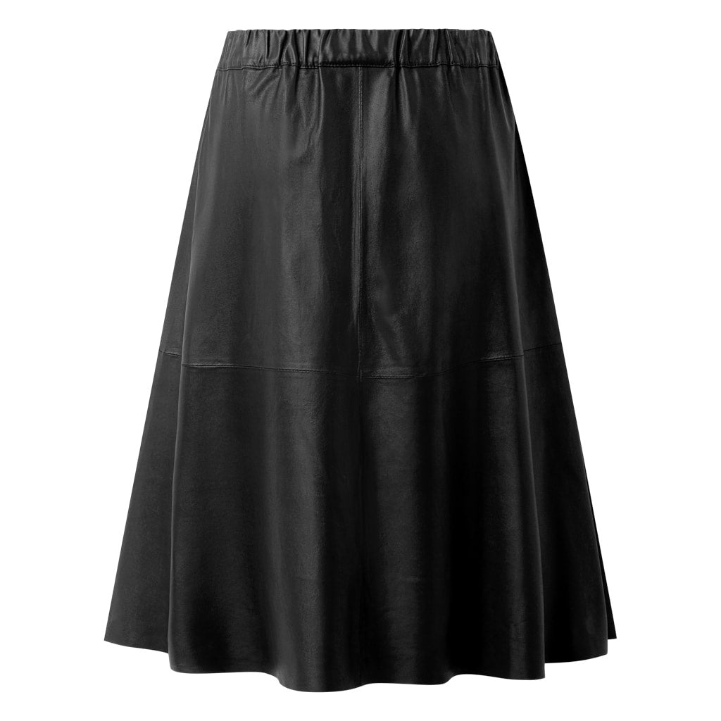Depeche leather wear Skind nederdel i blødt skind Skirts 099 Black (Nero)