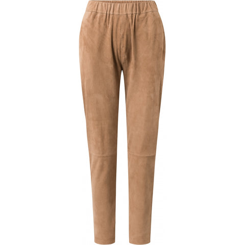 Depeche leather wear Baggy suede pants Pants 011 Sand