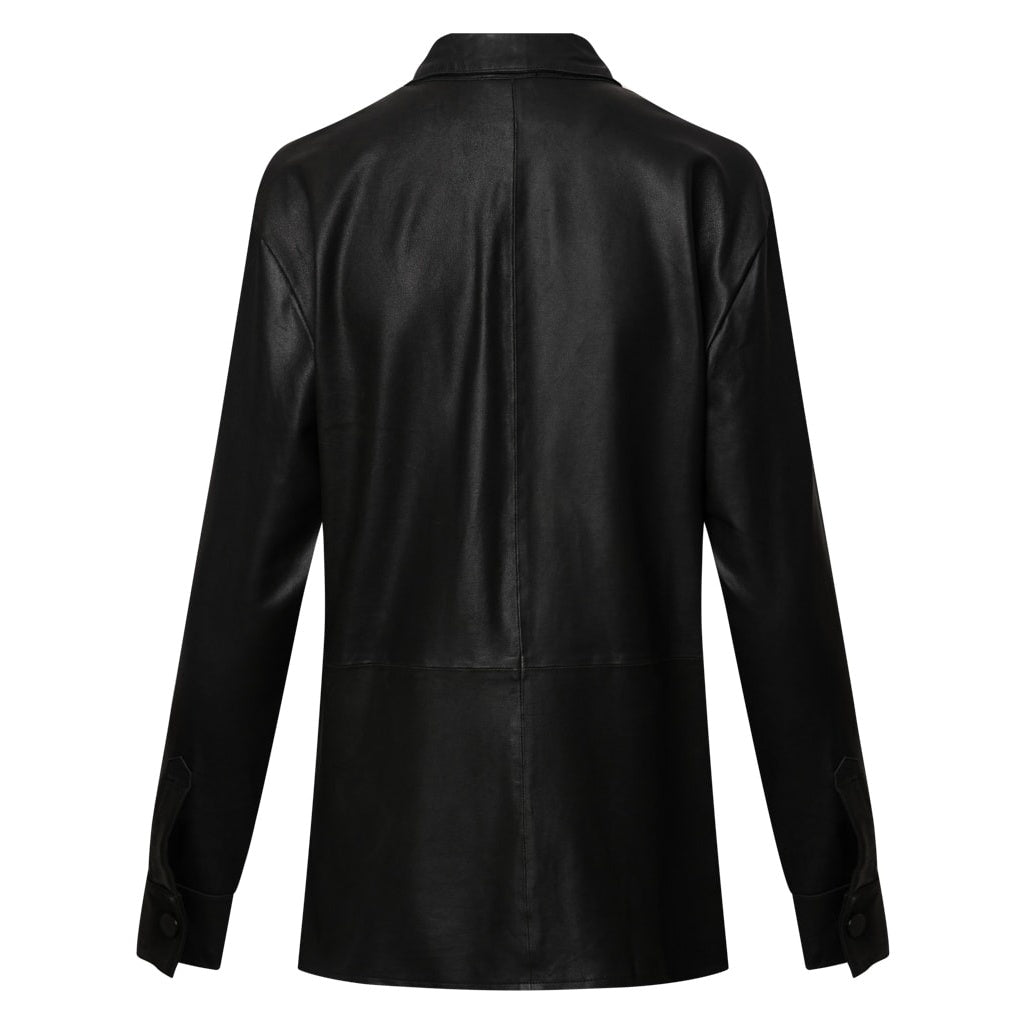 Depeche leather wear Shirt w buttons Tops 099 Black (Nero)