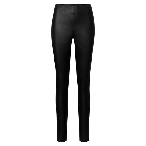 Depeche leather wear Stretch legging Pants 099 Black (Nero)