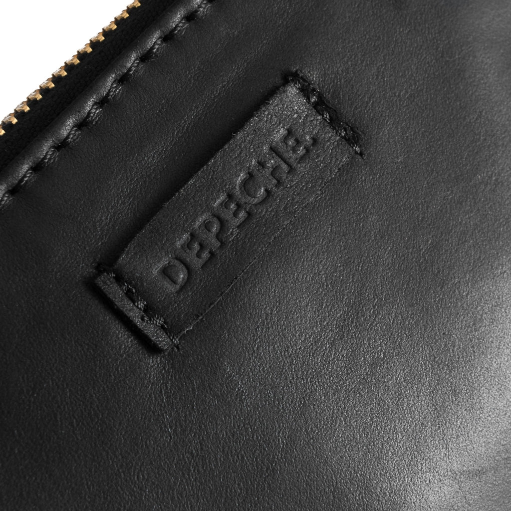 DEPECHE Credit card holder i silky soft leather Purse 099 Black (Nero)