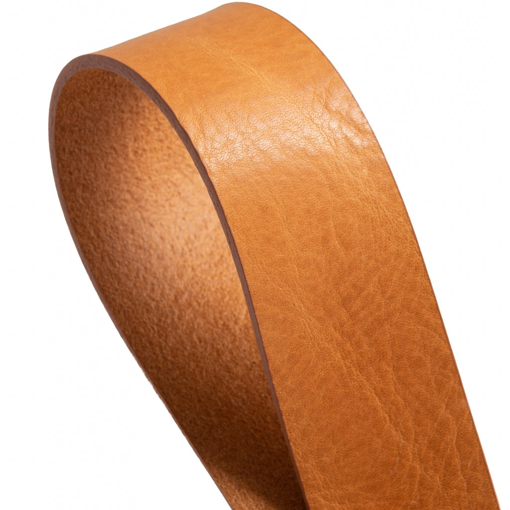 DEPECHE Jeans belt in nice leather quality Belts 014 Cognac