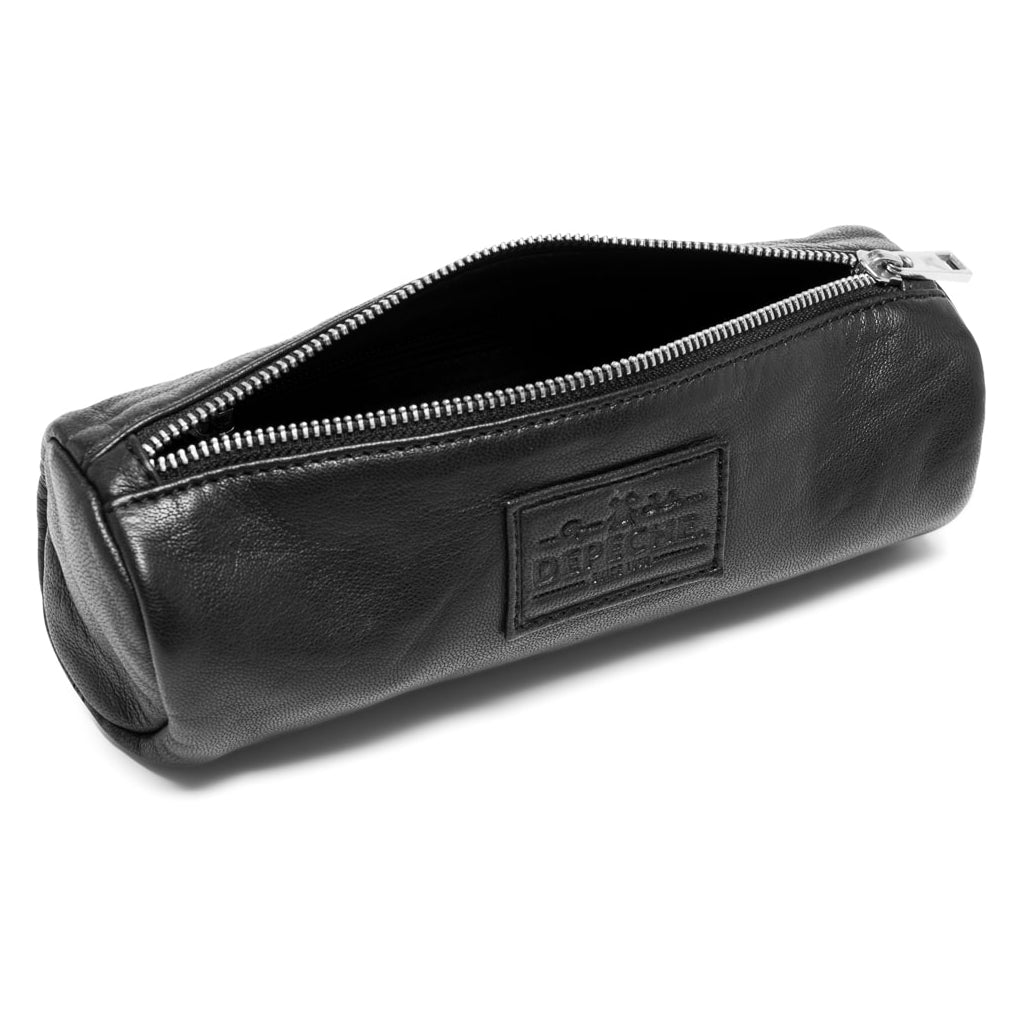 DEPECHE Pencilcase in soft leather Accessories 099 Black (Nero)