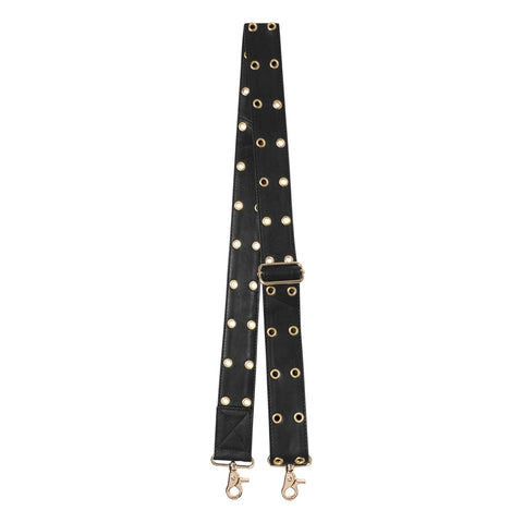 DEPECHE Shoulderstrap with eyelets studs Accessories 097 Gold (Platino)
