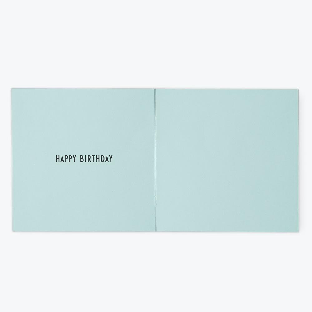 Design Letters Birthday card 1-6 GREEN#3 - Torgunns Barneklær