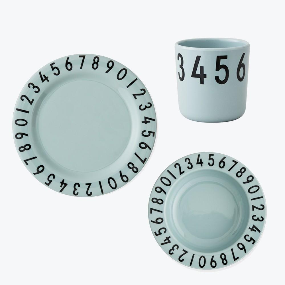 Design Letters Melamine The numbers gift set GREEN - Torgunns Barneklær
