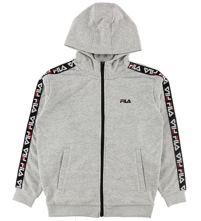 FILA KIDS ADARA Zip Jacket - Light Grey Melange Bros - Torgunns Barneklær