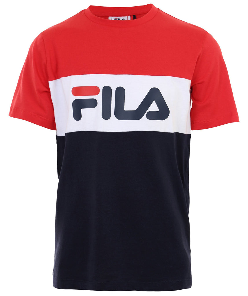 FILA KIDS CLASSIC DAY Blocked Tee - Red/White/Navy Overdeler FILA
