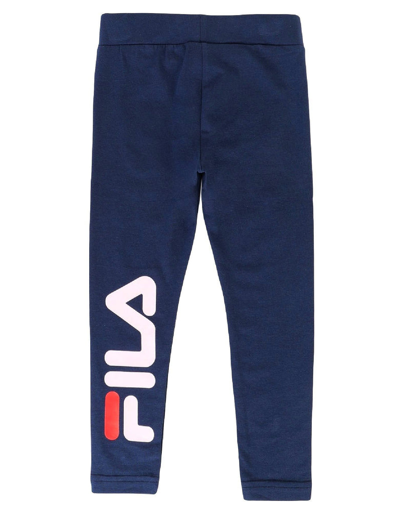 FILA KIDS GIRLS TIFFY Logo Leggings - Black Iris - Torgunns Barneklær