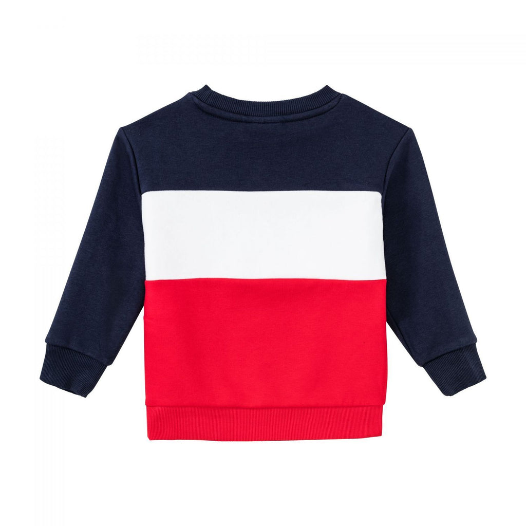 FILA KIDS NIGHT Blocked Crew Shirt - NAVY/HVIT/RØD - Torgunns Barneklær