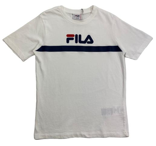 FILA KIDS TEAL Tee - Bright White Overdeler FILA