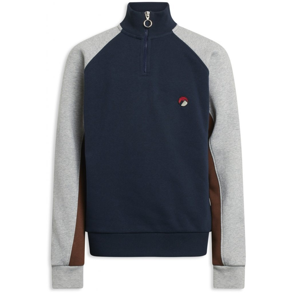 GRUNT Westone Zip Sweat - Wave Blue - Torgunns Barneklær