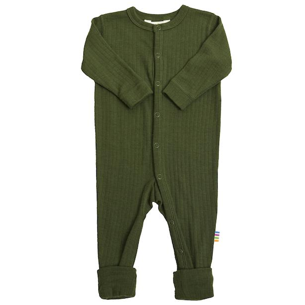 JOHA ULL // Basic Nightsuit Magic Foot - BOTTLE GREEN - Torgunns Barneklær
