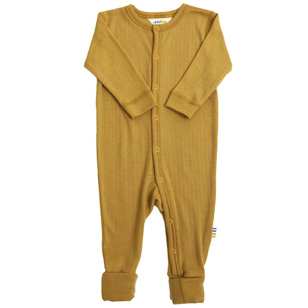 JOHA ULL // Basic Nightsuit Magic Foot - CARRY YELLOW - Torgunns Barneklær