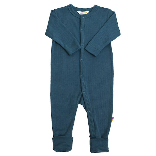 JOHA ULL // Basic Nightsuit Magic Foot - PETROL BLUE - Torgunns Barneklær