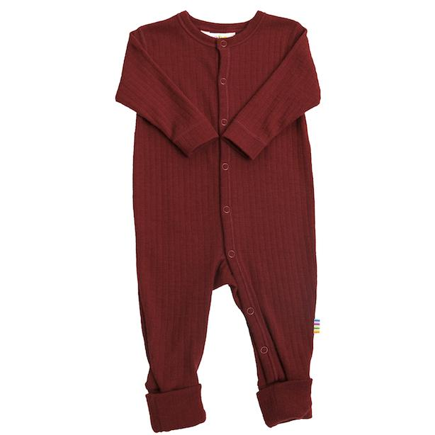 JOHA ULL // Basic Nightsuit Magic Foot - RED - Torgunns Barneklær