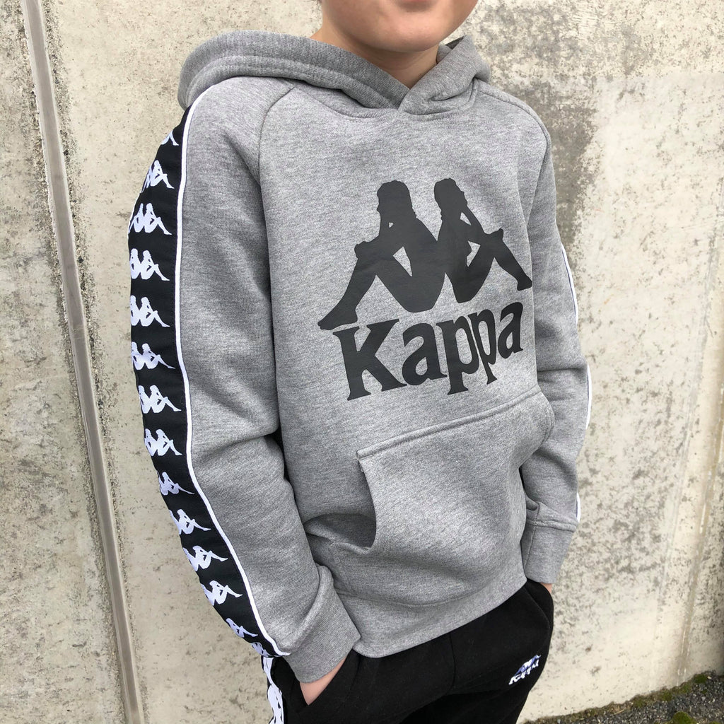Kappa Jr. Sweat hood, Auth. Bzaba - MD Grey Melange/Black Overdeler Kappa
