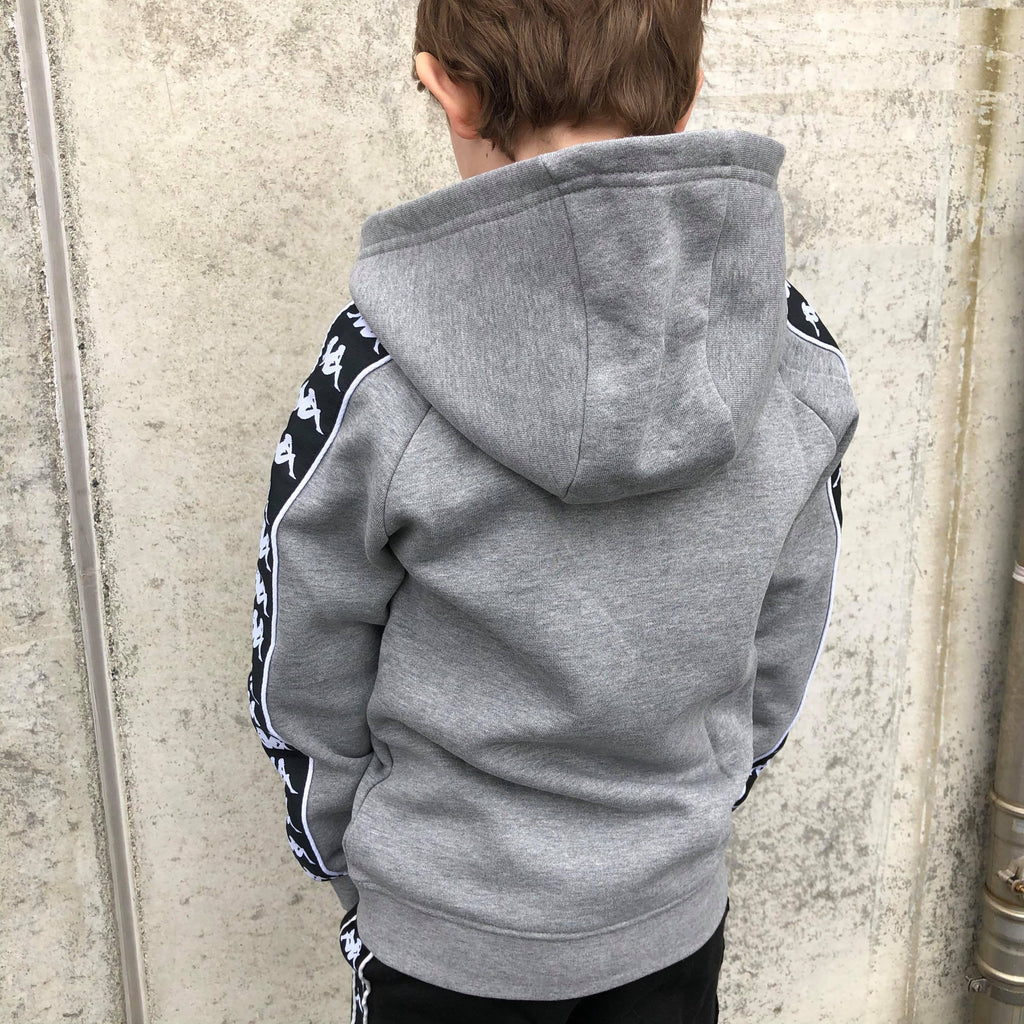 Kappa Jr. Sweat hood, Auth. Bzaba - MD Grey Melange/Black - Torgunns Barneklær