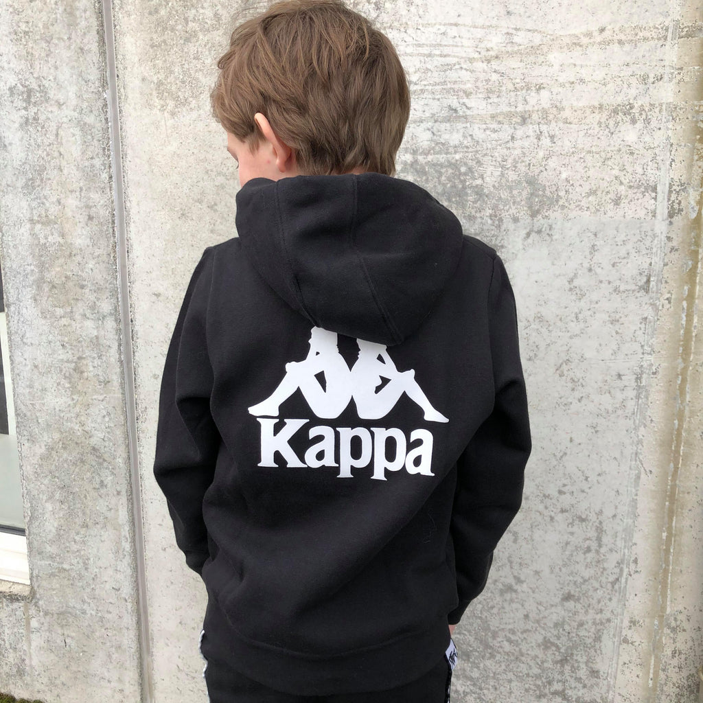 Kappa Jr. Sweat Hood, Auth. Willie - Black/White Overdeler Kappa