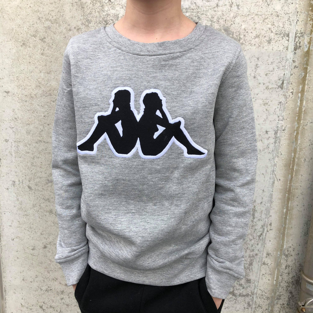 Kappa Jr. Sweat RN, Logo Airivit - MD Grey Mel./Black Overdeler Kappa