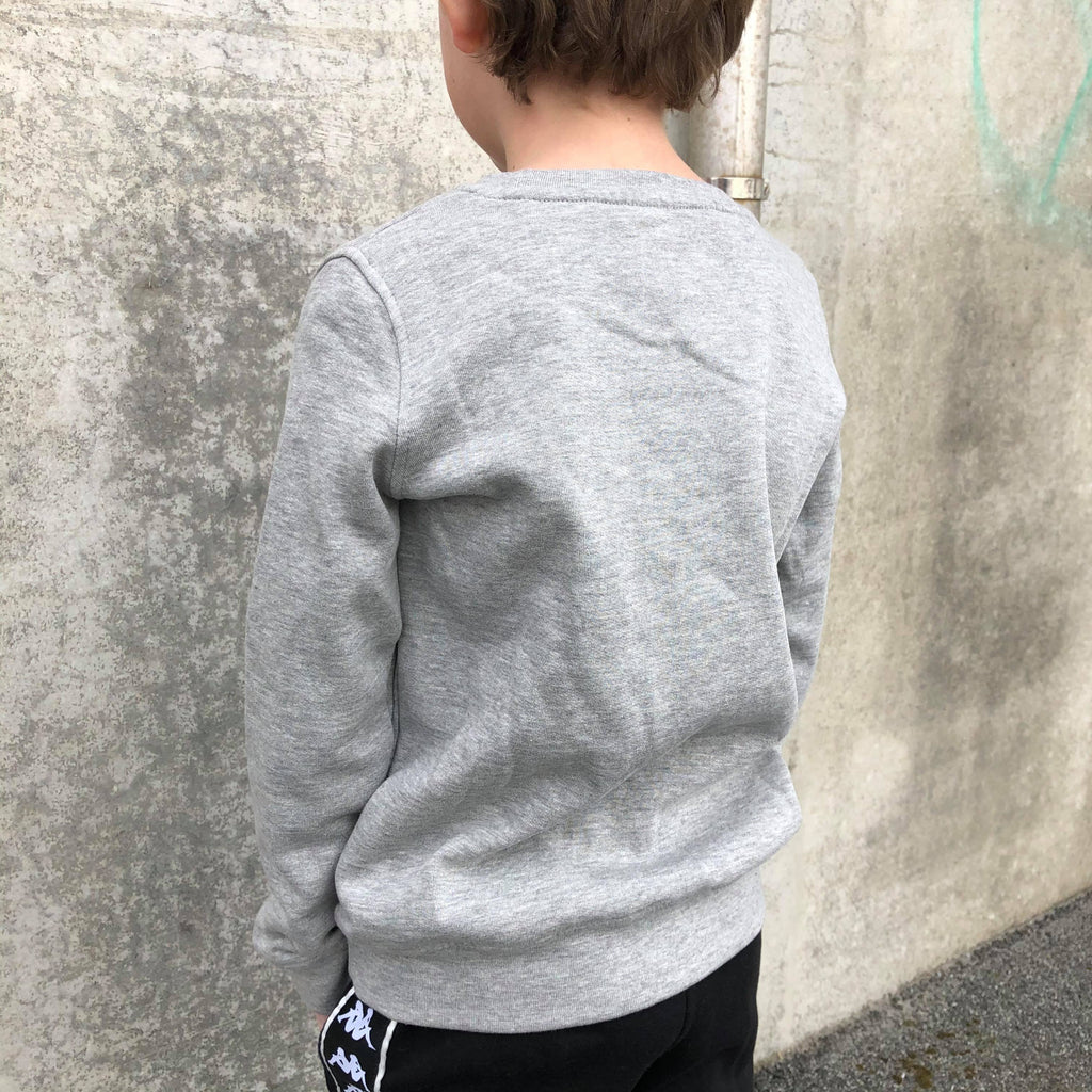 Kappa Jr. Sweat RN, Logo Airivit - MD Grey Mel./Black - Torgunns Barneklær