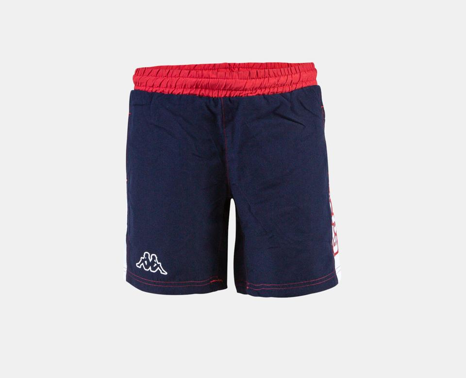 Kappa Jr. Swim Shorts, Logo Birtec - Blue Marine/Red/White - Torgunns Barneklær