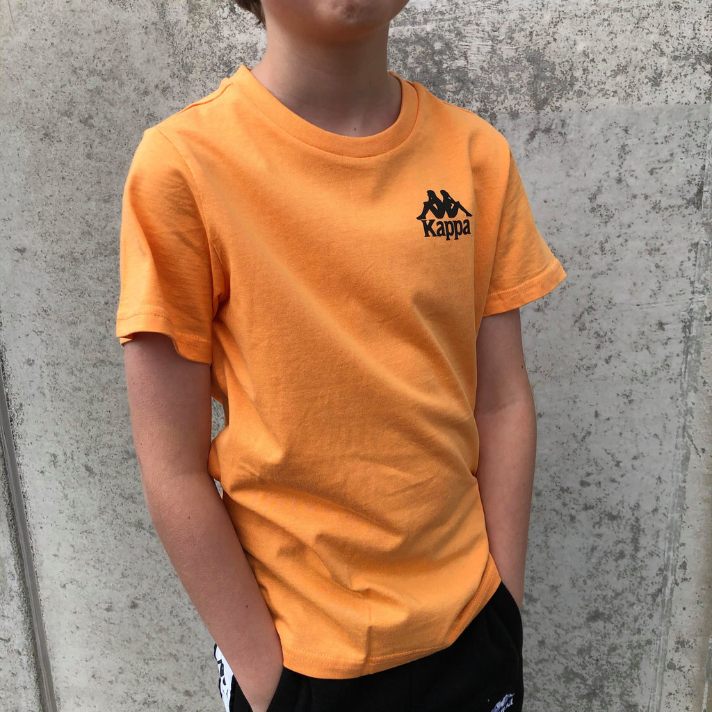 Kappa Jr. T-Shirt S/S, Auth. Wollie - Orange/Black - Torgunns Barneklær